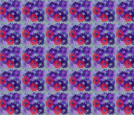 Purple Floral Arrangement fabric by snooky on Spoonflower - custom fabric