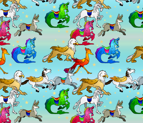 LMC_FantasyCarousel fabric by whatsit on Spoonflower - custom fabric