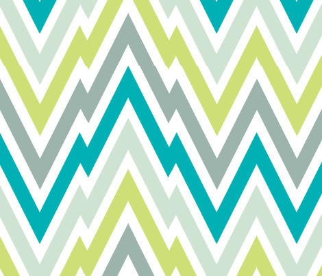 Zigging - Aqua fabric by honey&fitz on Spoonflower - custom fabric