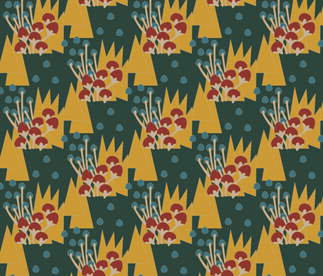 Egypt Floral Forest Green fabric by dolphinandcondor on Spoonflower - custom fabric
