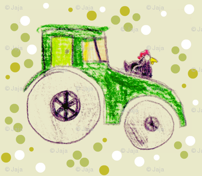 spotty chicken tractor