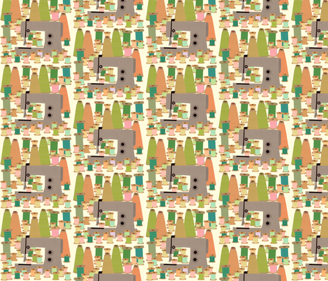 sewing forest fabric by heidikenney on Spoonflower - custom fabric