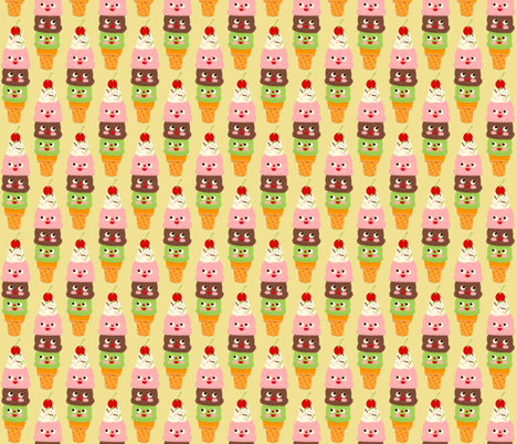 ice cream cones fabric by heidikenney on Spoonflower - custom fabric