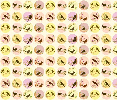 Cute Little Birds fabric by valentinaramos on Spoonflower - custom fabric