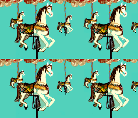 A Carousel fabric by karenharveycox on Spoonflower - custom fabric