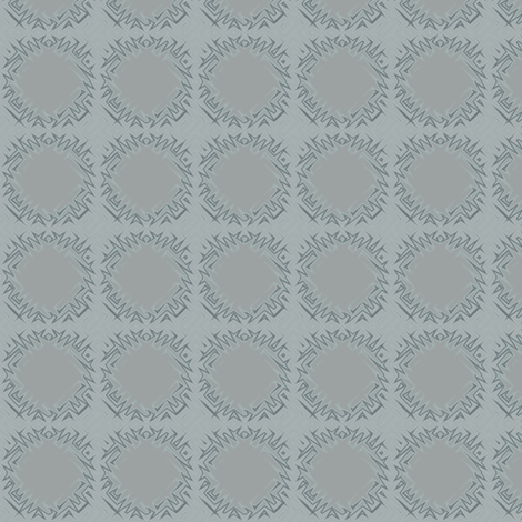 Edgy Circles in Grey © 2009 Gingezel Inc. fabric by gingezel on Spoonflower - custom fabric