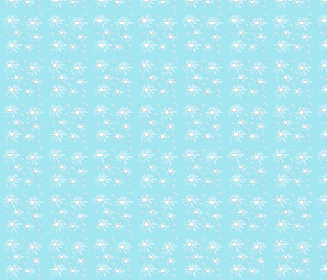 White Daisies fabric by snooky on Spoonflower - custom fabric