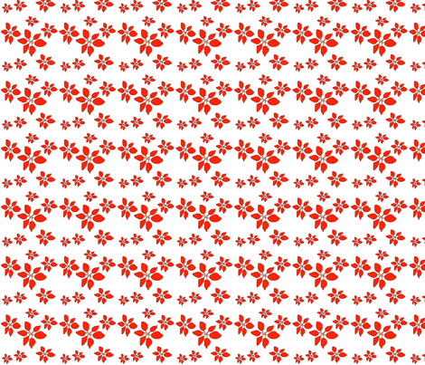 Red Flower fabric by snooky on Spoonflower - custom fabric