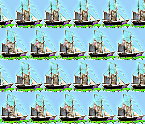 Sailing... Sailing... fabric by robin_rice on Spoonflower - custom fabric