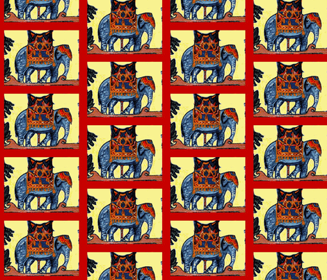 Carousel Elephant fabric by tresreneestudio on Spoonflower - custom fabric