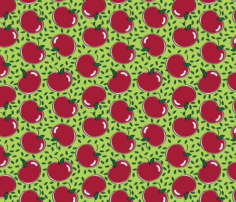 Apples with Leaves fabric by donnamarie on Spoonflower - custom fabric
