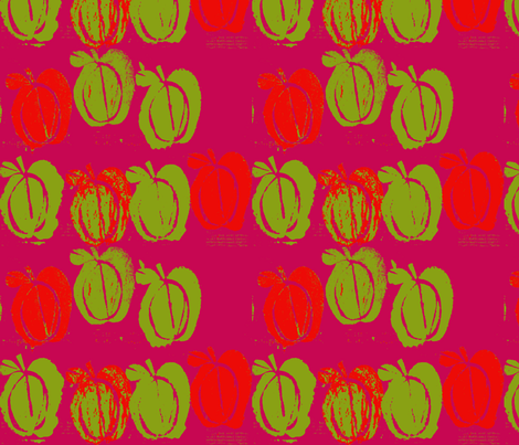apples on pink fabric by arteija on Spoonflower - custom fabric