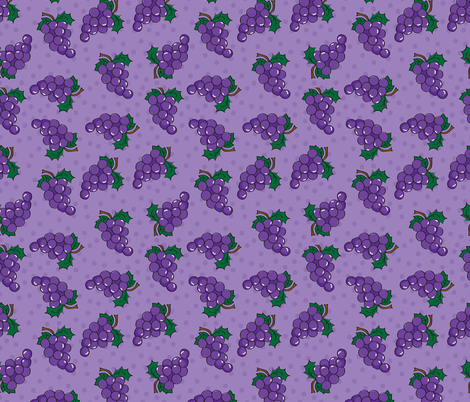 Grapes and Dots fabric by donnamarie on Spoonflower - custom fabric