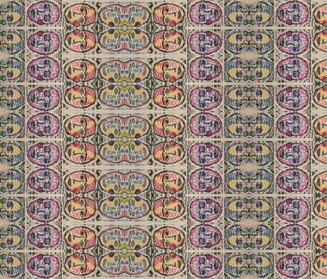 Color Study Face-268 fabric by kkitwana on Spoonflower - custom fabric