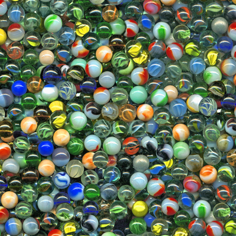 an ocean of marbles