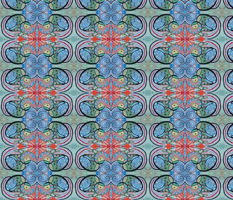 blue spiral sun fabric by emmaleeerose on Spoonflower - custom fabric