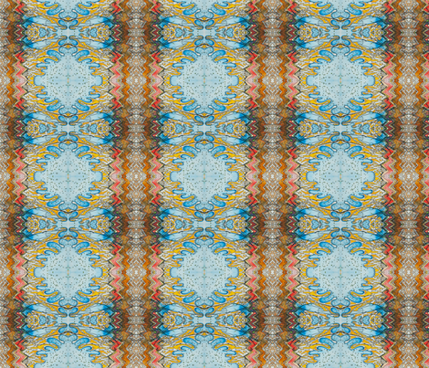 blue monkey face fabric by emaleerose on Spoonflower - custom fabric