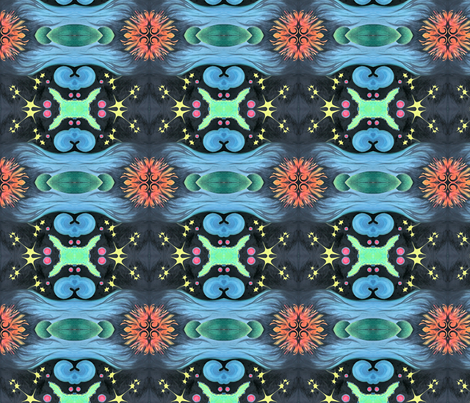 outer space fabric by emmaleeerose on Spoonflower - custom fabric