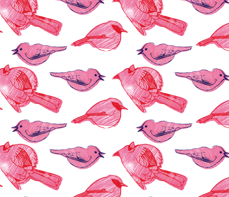 small stripy birdies fabric by leonielovesyou on Spoonflower - custom fabric