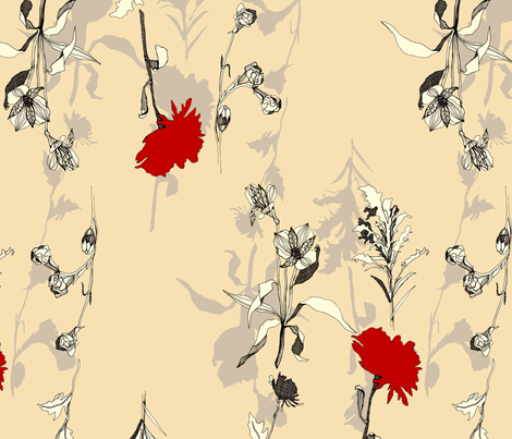 Jena in Off White fabric by wolfie_and_the_sneak on Spoonflower - custom fabric