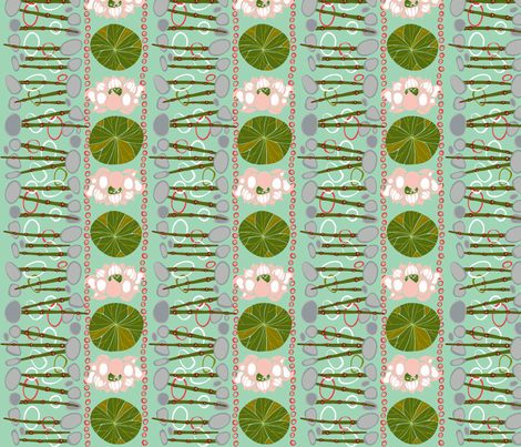 Lotus_Pond fabric by flyingtreestudios on Spoonflower - custom fabric