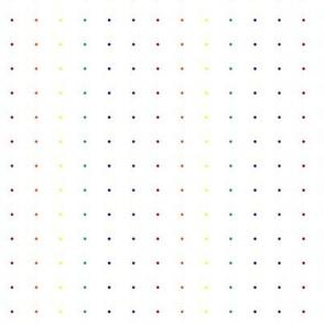 Rainbow Micro Dots on White