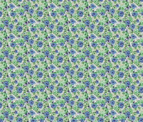 SketchRosesBlue fabric by jpfabrics on Spoonflower - custom fabric