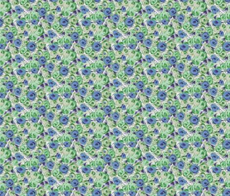 SketchRosesBlue fabric by ashland_house_designs on Spoonflower - custom fabric