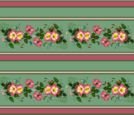 wild roses God is Love fabric by paragonstudios on Spoonflower - custom fabric