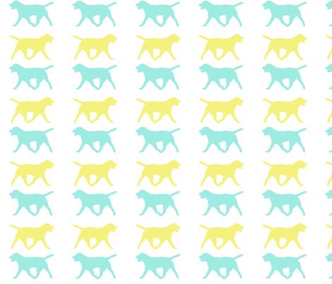 Walk the Dog fabric by charityanneruth@yahoo_com on Spoonflower - custom fabric