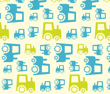 tractor_for_spoonflower fabric by newmom on Spoonflower - custom fabric