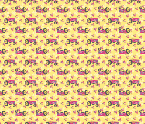 Jane_Dear_Pink_Tractors-01 fabric by deesignor on Spoonflower - custom fabric