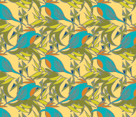 bird_not_of_paradise fabric by chewytulip on Spoonflower - custom fabric