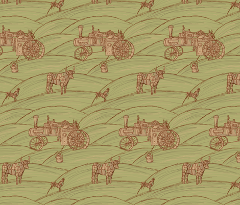 Agricultural Mechanisms fabric by jillianmorris on Spoonflower - custom fabric