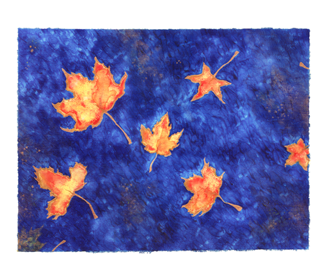 Leaves fabric by jadegordon on Spoonflower - custom fabric