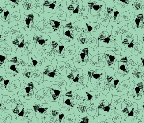 Ballroom Belles fabric by tuppencehapenny on Spoonflower - custom fabric
