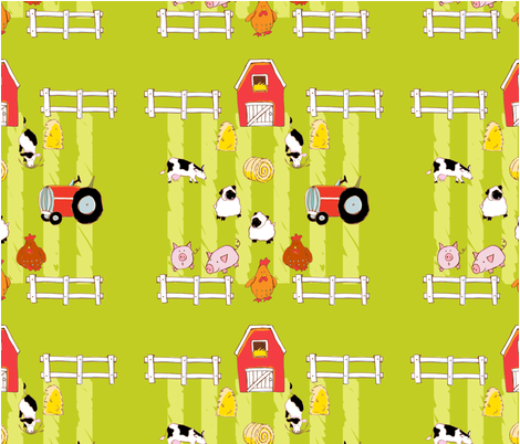 NeighborhoodFarm fabric by monicaleestudios on Spoonflower - custom fabric