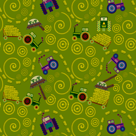 Crop Circles fabric by madam0wl on Spoonflower - custom fabric