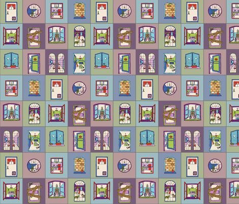 Next Door - small fabric by annosch on Spoonflower - custom fabric