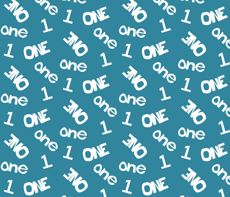 One - Turquoise 001 fabric by lowa84 on Spoonflower - custom fabric