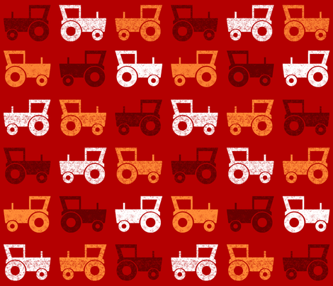 SteffFabricsTractorRed02 fabric by steffstyle on Spoonflower - custom fabric