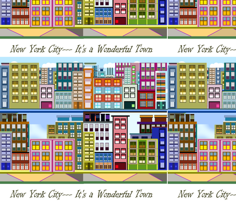 0-IT'S A WONDERFUL TOWN fabric by soobloo on Spoonflower - custom fabric