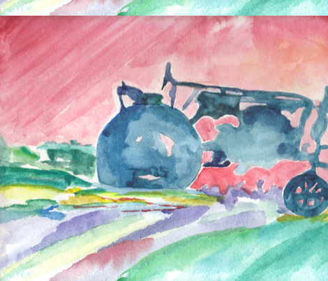 Tractor fabric by higgins on Spoonflower - custom fabric