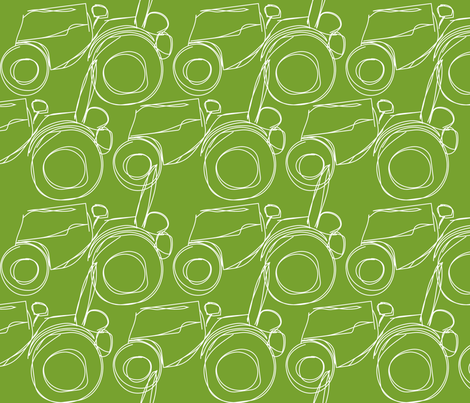 white_tractor fabric by mariapopia on Spoonflower - custom fabric