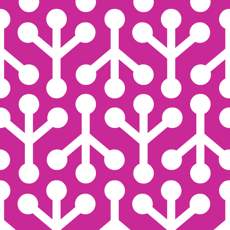 Birdsfoot - (Fuchsia) fabric by nekineko on Spoonflower - custom fabric