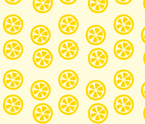 lemon_slice fabric by featheredneststudio on Spoonflower - custom fabric
