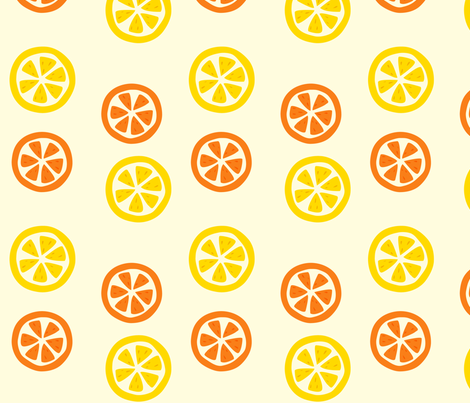 citrus_slices fabric by featheredneststudio on Spoonflower - custom fabric