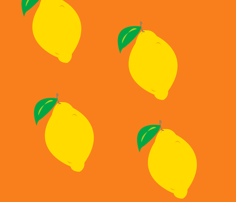 whole_lemon fabric by featheredneststudio on Spoonflower - custom fabric