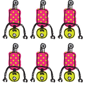 Wheelie Fun Fabric-- Pink