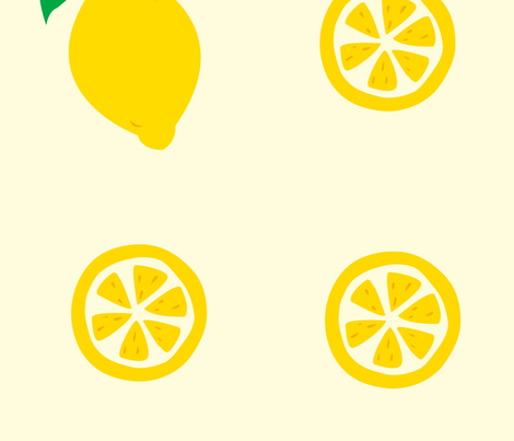 lemons fabric by featheredneststudio on Spoonflower - custom fabric